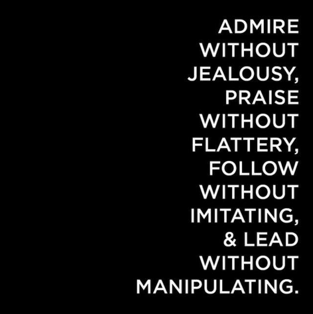 ....admire